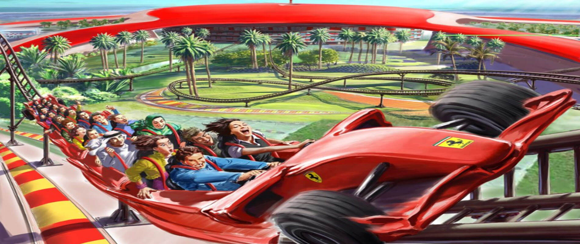 02 Day Any 02 Parks - Ferrari/ Yas/ Warner Bros