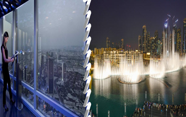 Burj Khalifa 148 Floor + Dubai Fountain Boardwalk