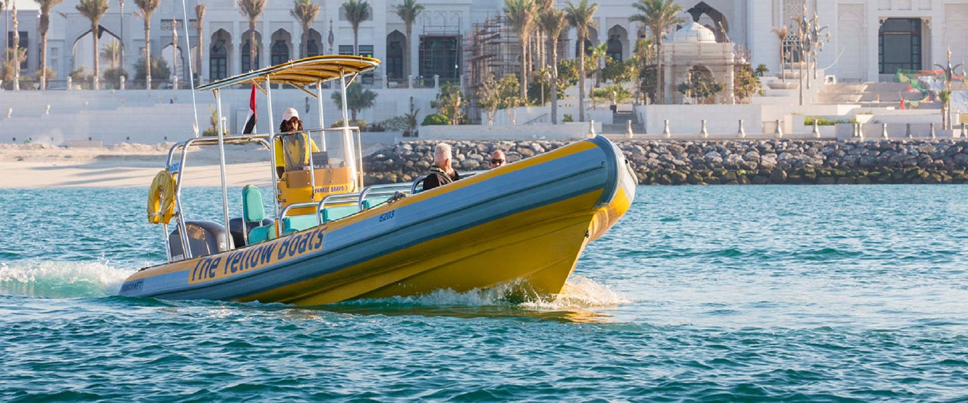 Yellow Boats Ride - Abu Dhabi
