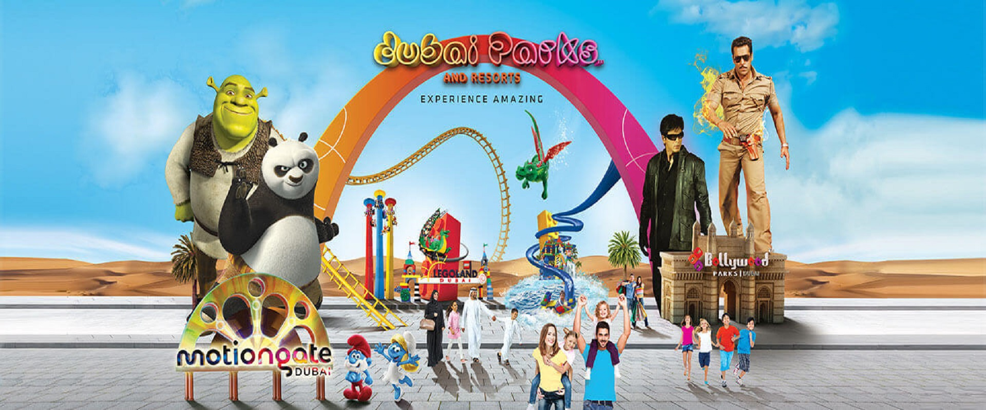 Dubai Parks - 1 Day Any 2 Parks