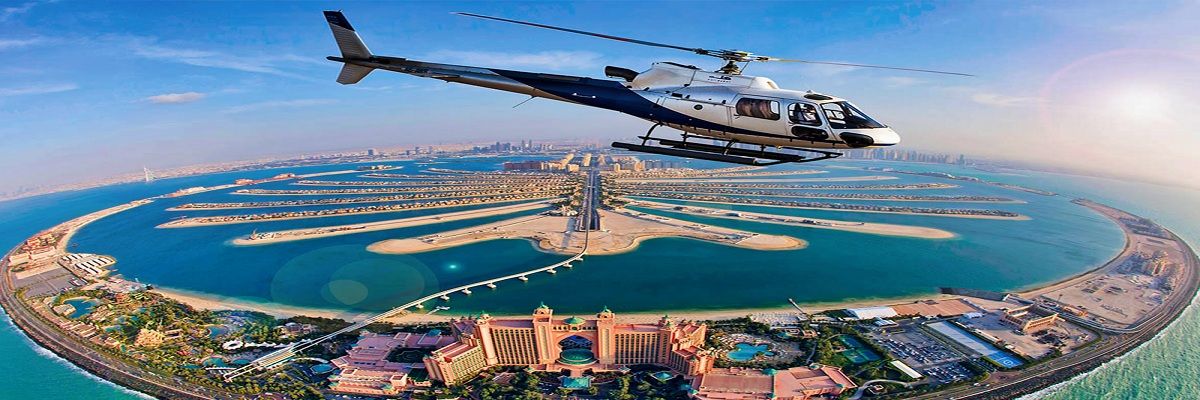 Dubai Helicopter Tour and Burj Khalifa at the top 124 floor