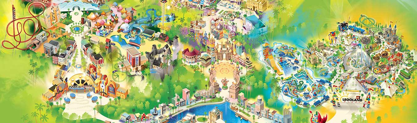Dubai Parks (Any 01 Park) + Dubai Aquarium & Underwater Zoo