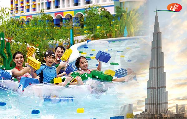 Legoland Water Park + Burj Khalifa 124 Floor (Non Prime)