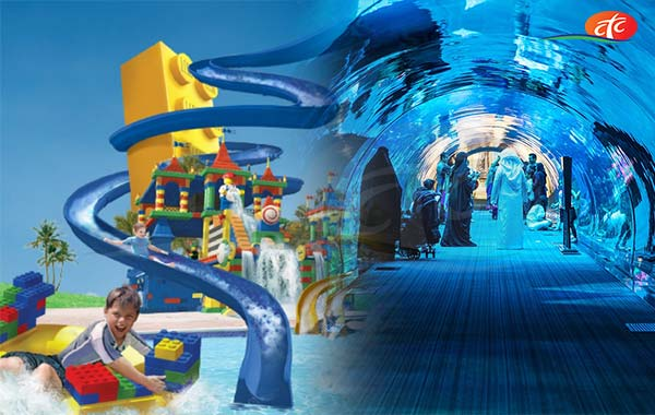 Legoland Water Park and Dubai Aquarium & Underwater Zoo