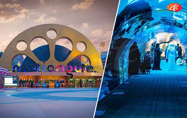 Motiongate and Dubai Aquarium and Underwater Zoo