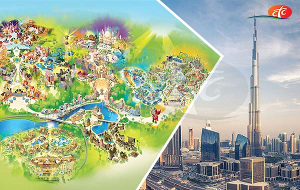 Burj Khalifa and Dubai Parks (Any 02 Parks)
