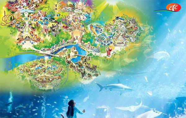 Dubai Aquarium & Underwater Zoo and Dubai Parks (Any 02 Parks)