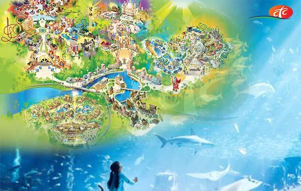 Dubai Aquarium & Underwater Zoo and Dubai Parks (Any 02 Parks)