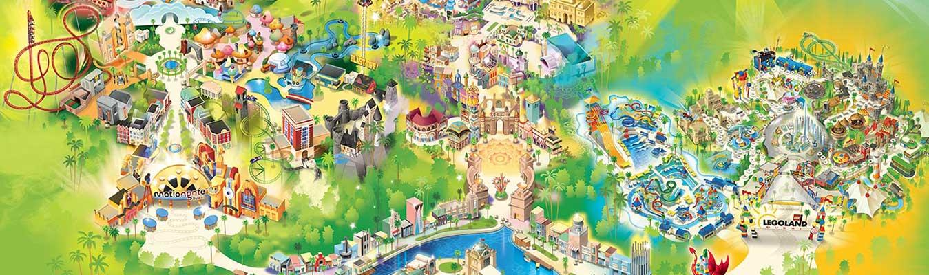 Dubai City Tour and Dubai Parks (Any 01 Park)