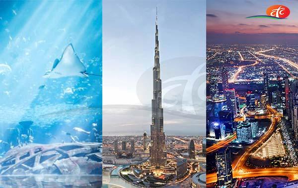 Dubai City Tour, Burj Khalifa and Dubai Aquarium & Underwater Zoo