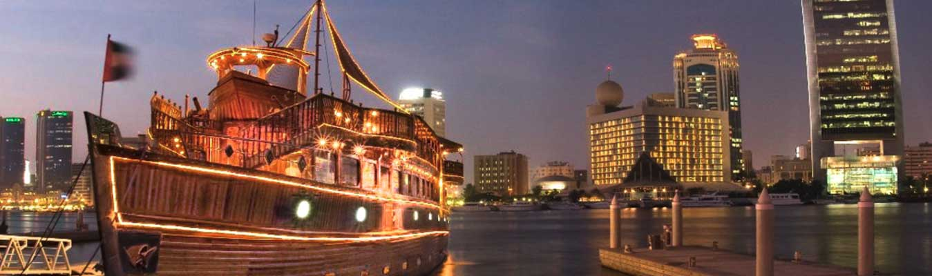 Dhow Cruise Luxury - Dubai Creek Five Star Tour
